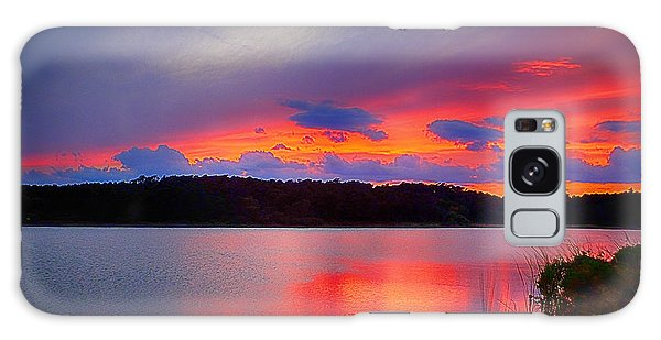 Galaxy Case featuring the photograph Shelf Cloud At Sunset by Bill Barber