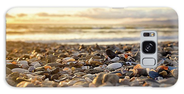 Shells At Sunset Galaxy Case by April Reppucci