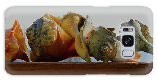 Shells Of The Sea In Orange And Gray Galaxy Case