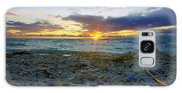 Shells On The Beach At Sunset Galaxy Case
