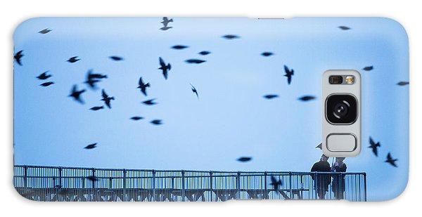 Sheltering Under An Umbrella Watching The Birds Galaxy Case