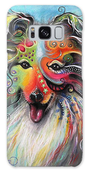 Sheltie  Galaxy Case by Patricia Lintner