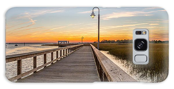 Shem Creek Pier Panoramic Galaxy Case