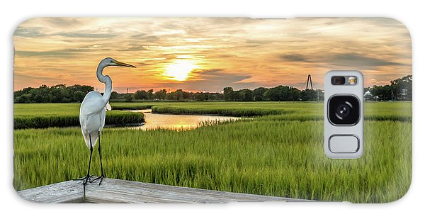 Shem Creek Pier Sunset Galaxy Case
