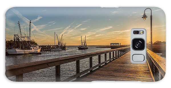Shem Creek Pier Sunset - Mt. Pleasant Sc Galaxy Case