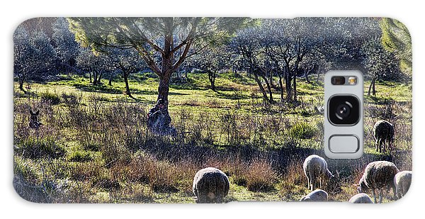 Shepherd And Sheep Galaxy Case