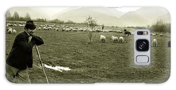 Shepherd In The Carpathians Mountains Galaxy Case