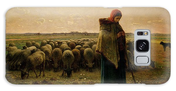 Rural Scenes Galaxy S8 Case - Shepherdess With Her Flock by Jean Francois Millet
