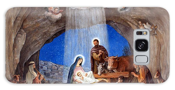 Shepherds Field Nativity Painting Galaxy Case by Munir Alawi