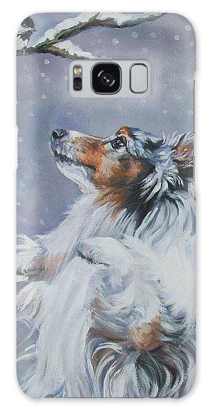 Shetland Sheepdog With Chickadee Galaxy S8 Case