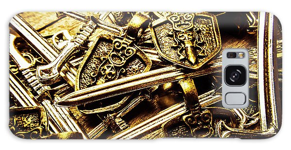 Metal Galaxy Case - Shields And Swords Weapons by Jorgo Photography - Wall Art Gallery