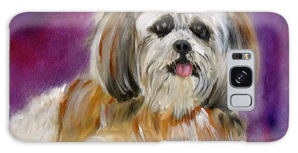 Shih-tzu Puppy Galaxy Case by Jenny Lee