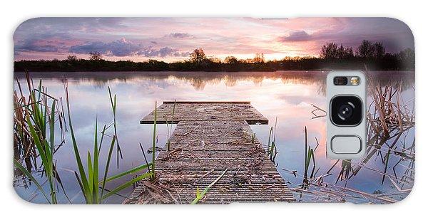 Shinewater Lake Sunrise Galaxy Case