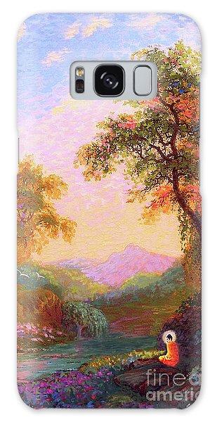 Peach Galaxy Case - Shining Peace Buddha Meditation by Jane Small