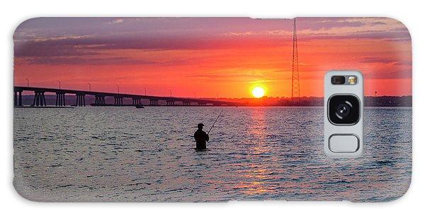 Shinnecock Fisherman At Sunset Galaxy Case