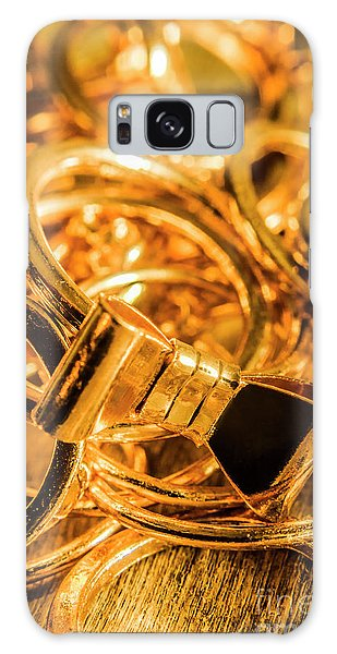 Jewels Galaxy Case - Shiny Gold Rings by Jorgo Photography - Wall Art Gallery