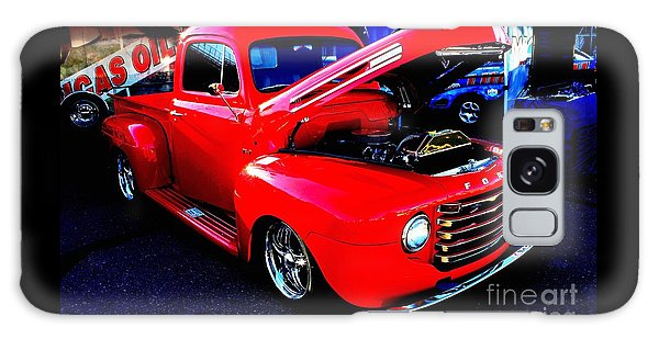 Shiny Red Ford Truck Galaxy Case by Natalie Ortiz