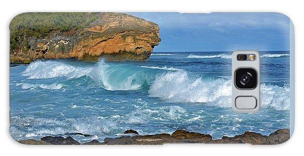Shipwreck Beach Shorebreaks 2 Galaxy Case by Marie Hicks
