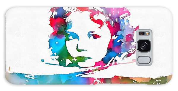 Shirley Temple Watercolor Paint Splatter Galaxy Case by Dan Sproul