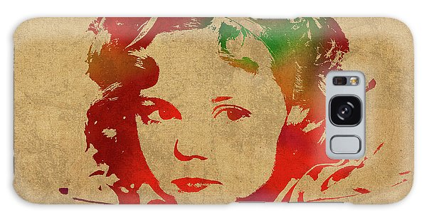 Shirley Temple Watercolor Portrait Galaxy Case by Design Turnpike