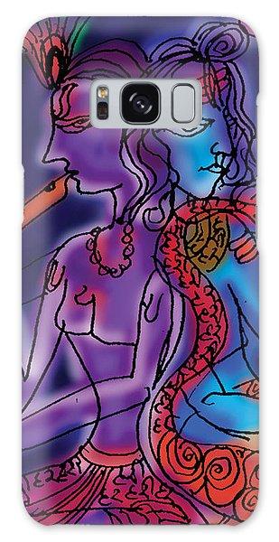 Shiva And Krishna Galaxy Case
