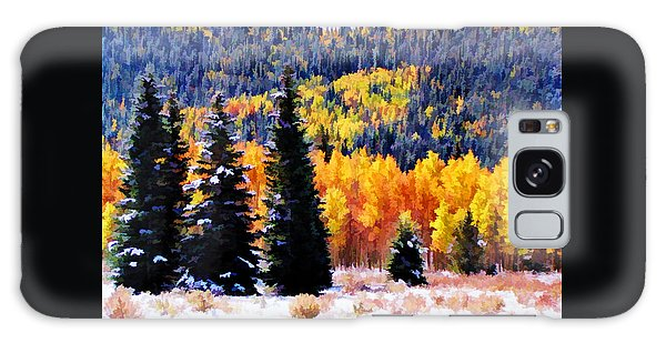 Shivering Pines In Autumn Galaxy Case by Diane Alexander