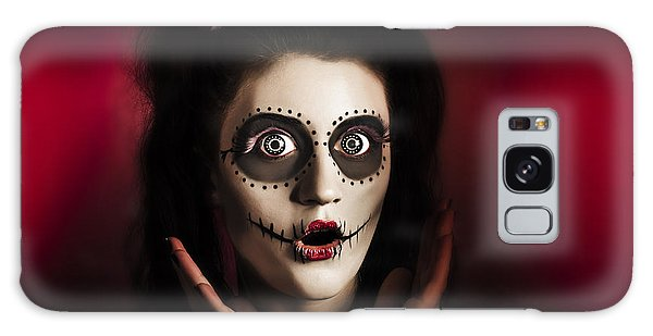 Voodoo Galaxy Case - Shocked Day Of The Dead Voodoo Doll On Red by Jorgo Photography - Wall Art Gallery