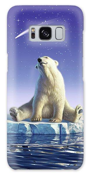 Polar Bear Galaxy S8 Case - Shooting Star by Jerry LoFaro