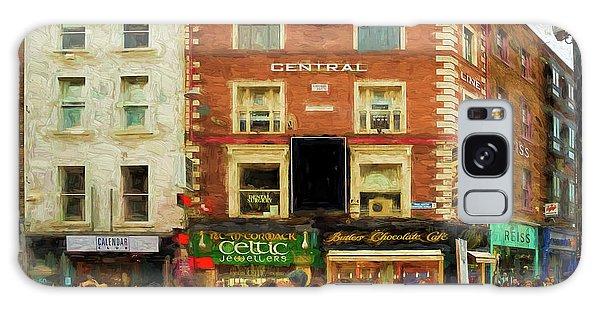 shopping on Grafton Street in Dublin Galaxy Case