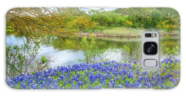 Shoreline Bluebonnets At Lake Travis Galaxy Case