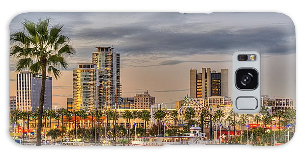 Shoreline Village Rainbow Harbor Marina Galaxy Case