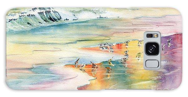 Shoreline Watercolor Galaxy Case