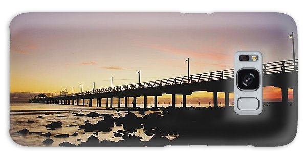 Shorncliffe Pier At Dawn Galaxy Case