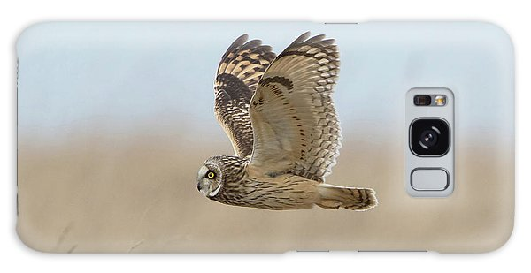 Short-eared Owl Hunting Galaxy Case