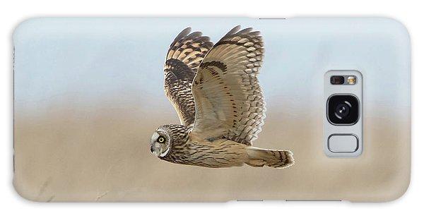 Short-eared Owl Hunting Galaxy Case