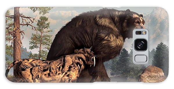 Short-faced Bear And Saber-toothed Cat Galaxy Case
