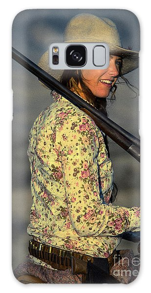 Shotgun Annie Western Art By Kaylyn Franks Galaxy Case