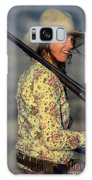 Shotgun Annie Western Art By Kaylyn Franks Galaxy Case