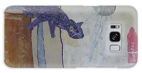 Shower Cat Galaxy Case by AJ Brown