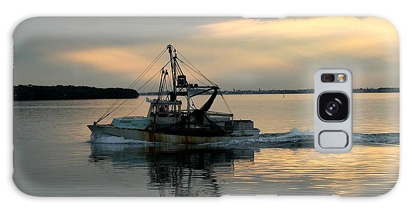 Shrimp Boat At Sunset Galaxy Case