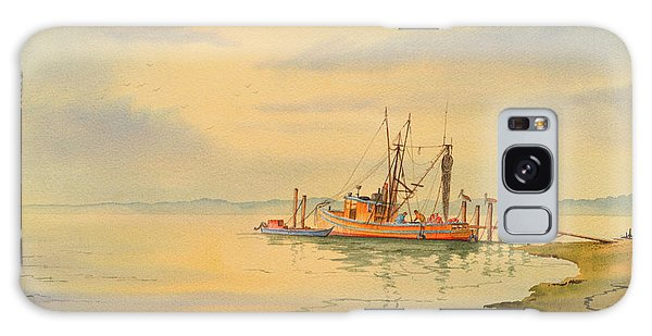 Shrimp Boat Sunset Galaxy Case by Bill Holkham