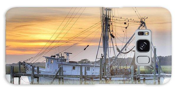 Shrimp Boat Sunset Charleston Sc Galaxy Case