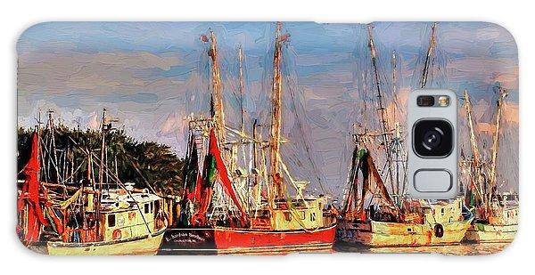 Shrimp Boats Shem Creek In Mt. Pleasant  South Carolina Sunset Galaxy Case