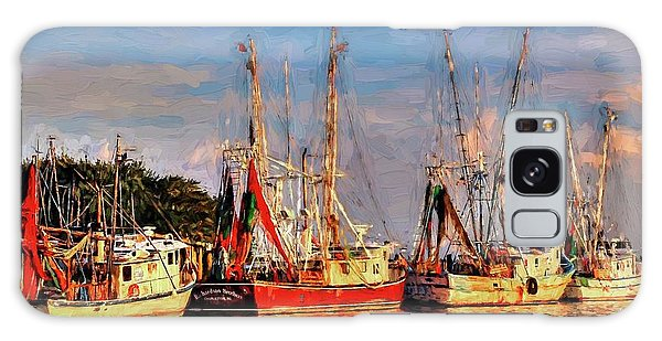 Shrimp Boats Shem Creek In Mt. Pleasant  South Carolina Sunset Galaxy Case