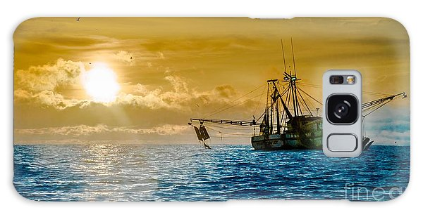 Shrimp Trawler At Dawn Galaxy Case