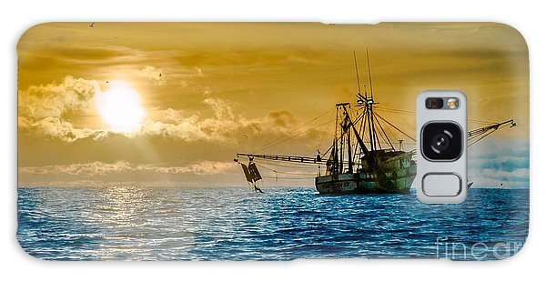 Shrimp Trawler At Dawn Galaxy Case