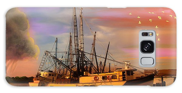 Shrimpers At Dock Galaxy Case by J Griff Griffin