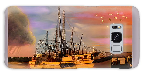 Shrimpers At Dock Galaxy Case