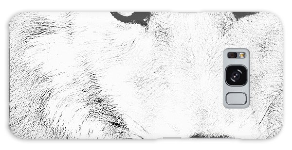 Shy Wolf Galaxy Case