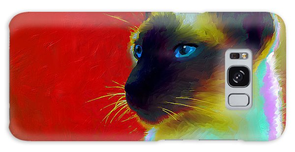 Siamese Cat 10 Painting Galaxy Case